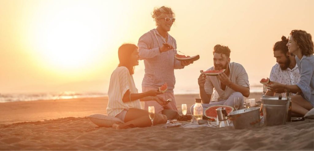 Mindful Eating On the Beach