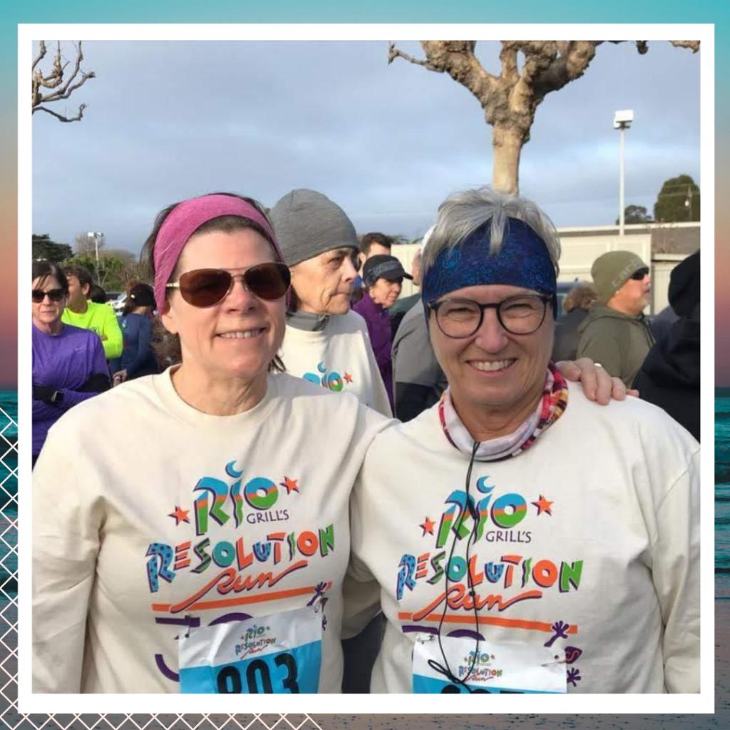 Martha and Denise at Rio Resolution Run